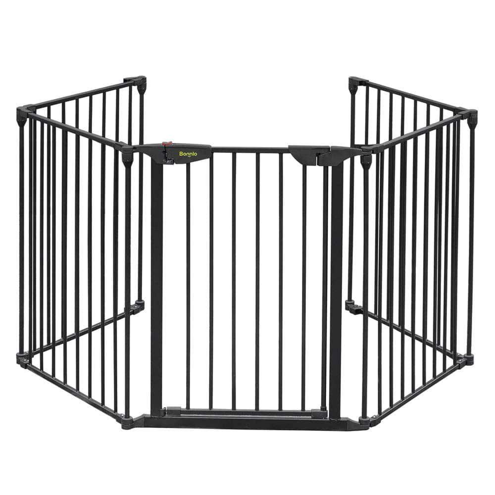 Bonnlo-Metal-5-Panel-Baby-Safety-Gate-for-Spiral-Stairs