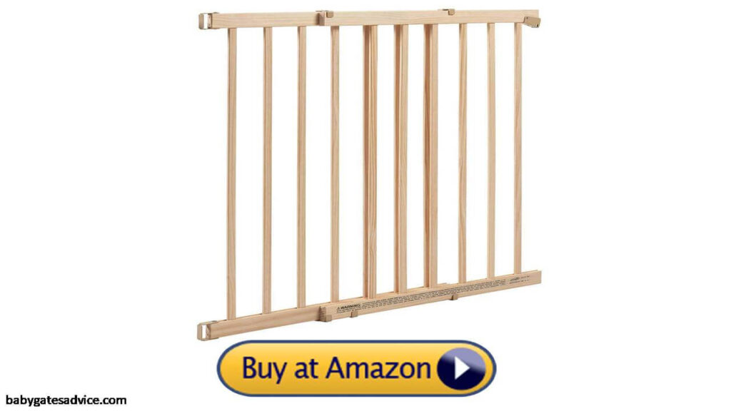Evenflo Extra Tall Infant Baby Wooden Gate For Top Of Stairs With Spindles