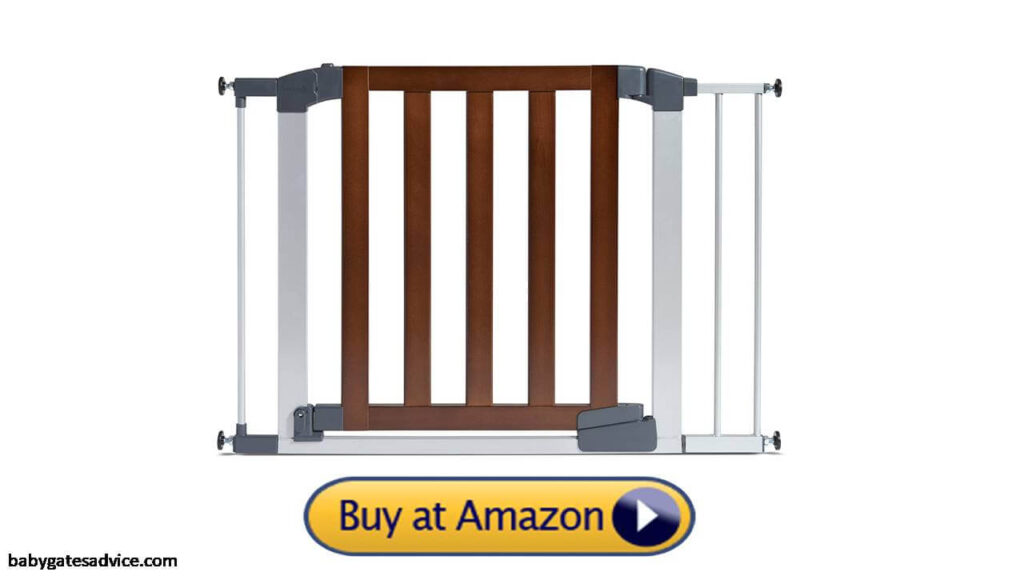 Munchkin Auto Close Pressure Mounted Infant Baby Gate for Stairs With Spindles