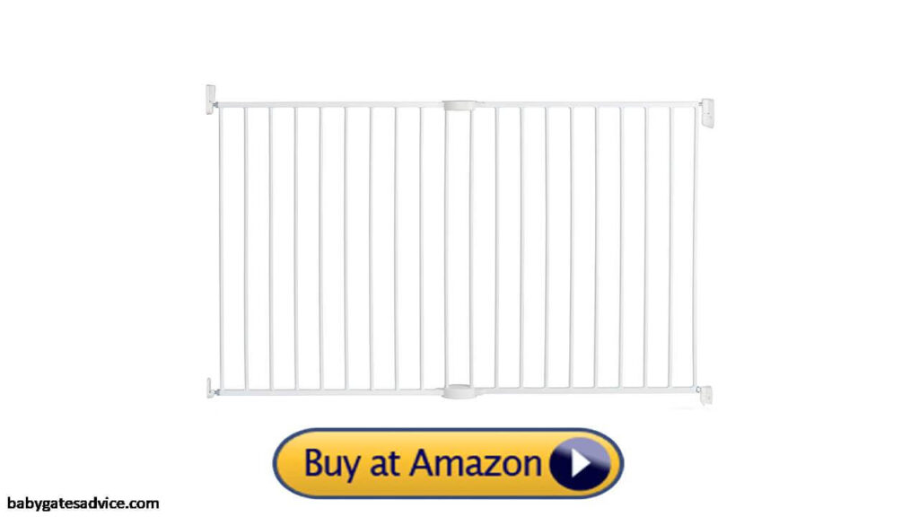 Munchkin Extra Tall and Wide Baby Safety Gate for Stairs With spindles