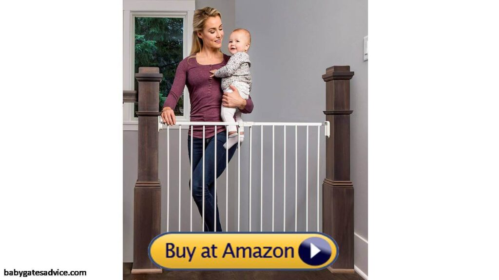 Regalo Extra Wide Stairway and Hallway Walk Through Baby Safety Gate