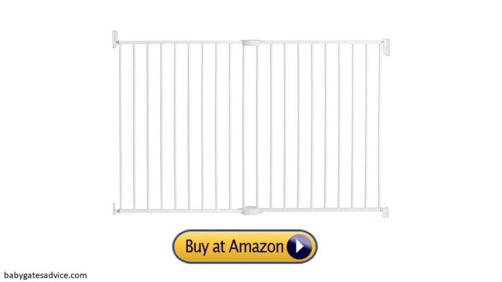 munchkin extending xl tall and wide baby gate for top of stairs
