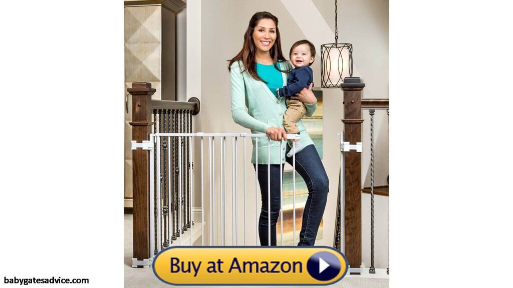 regalo stairway and hallway wall mounted baby gate with spindle kit