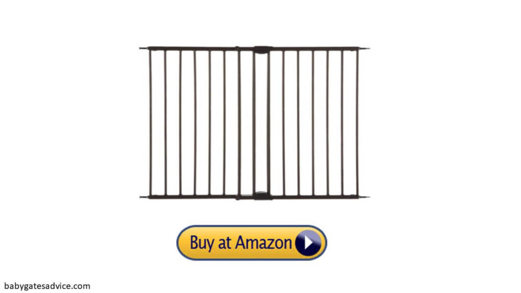 toddleroo by north states 47.85 inches wide easy swing baby gate for top of stairs