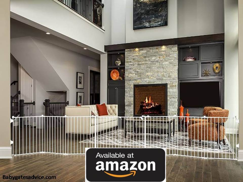 Regalo-192-Inch-Double-Door-Super-Wide-Adjustable-Baby-Gate-For-Wood-Stove