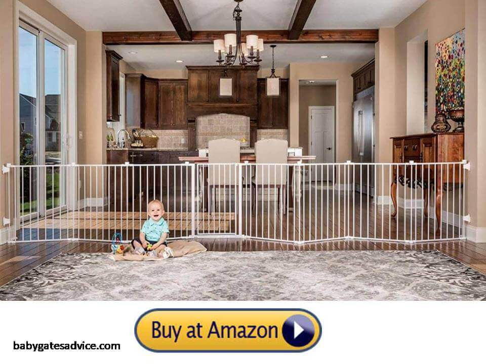 Regalo-192-Inch-Super-Wide-Baby-Gate-for-christmas-tree