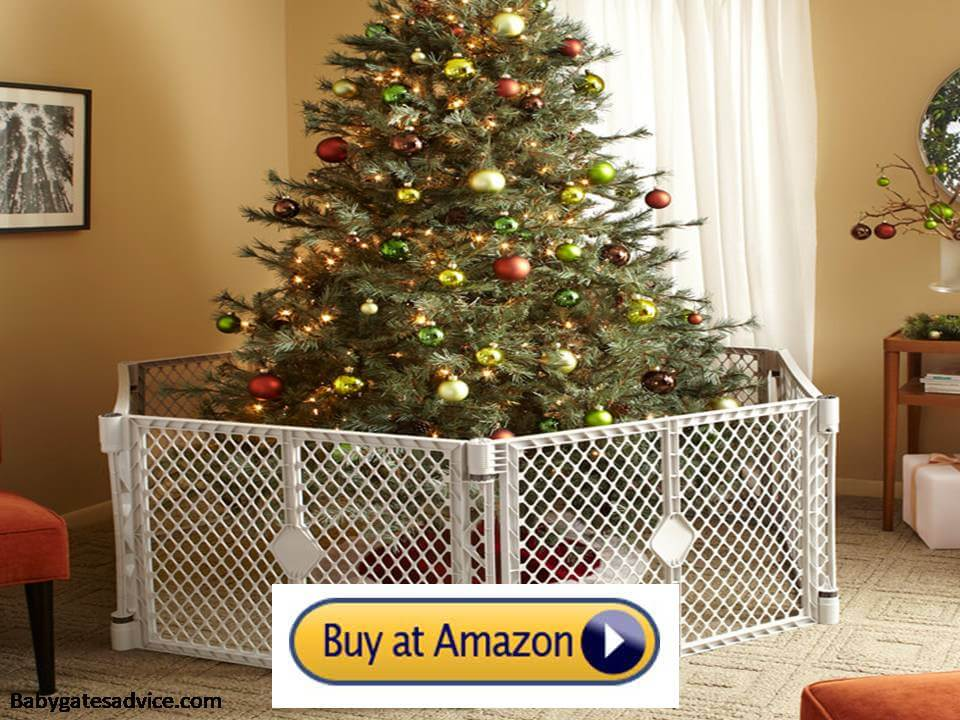 Toddleroo-by-North-States-Superyard-6-Panel-Baby-Gate/Barrier-for-christmas-tree